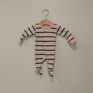 L'ovedbaby Newborn Pink Striped Sleeper